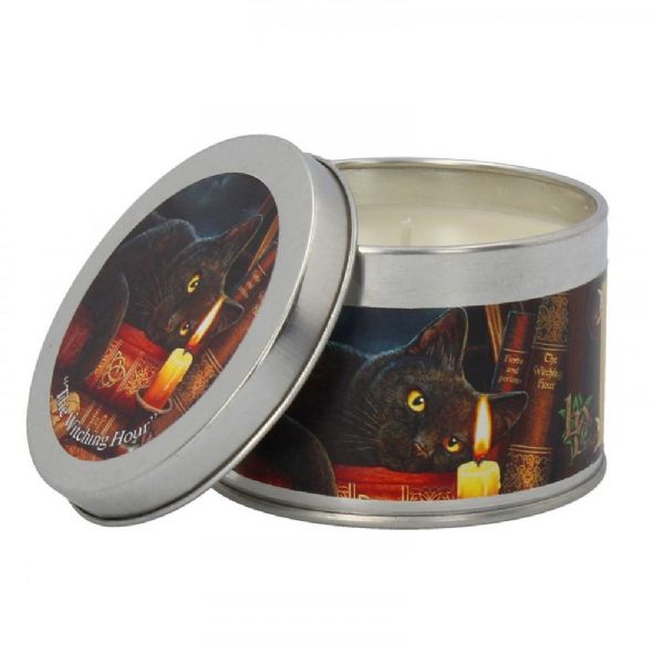 LISA PARKER Witching Hour Black Cat Tin Candle by Nemesis Now